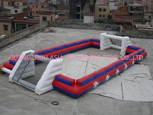 Chine Terrain de football gonflable de sports de fournisseur de la Chine sans feuille de plancher, terrain de football gonflable usine