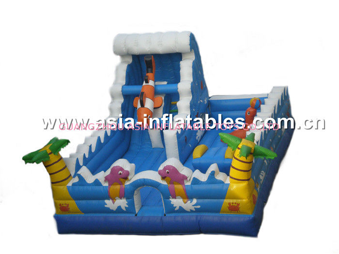 Inflatable Children Farm Land, Outdoor Inflatable Funland Games For Children