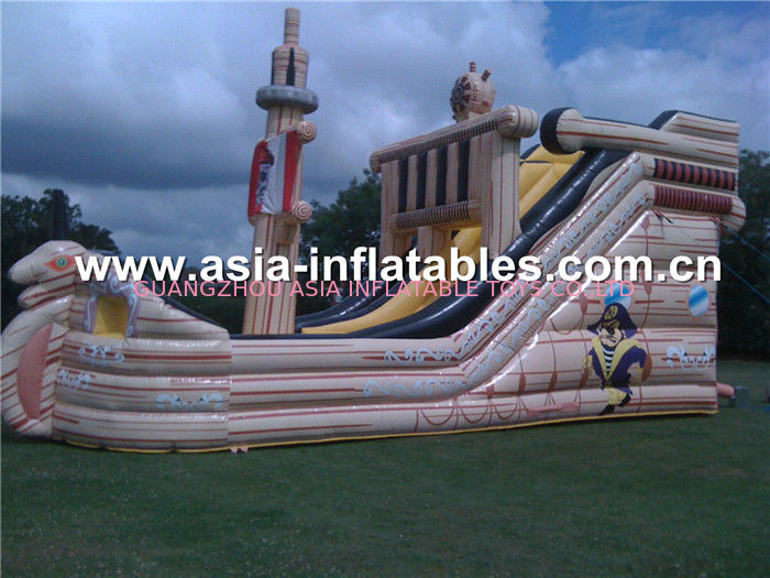 Commercial Grade Inflatable Ship Trampolin Park With Bouncy Castle For Children