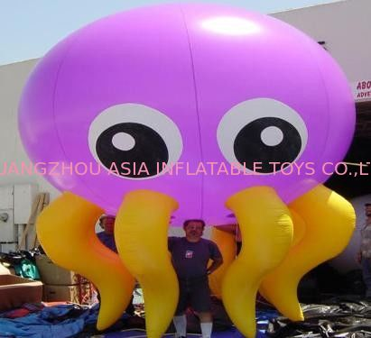 The purple octopus inflatable helium balloon with lighting